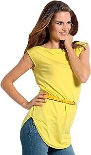 SENSI' T-Shirt Donna Lunga Manica Corta Morbido Micromodal Traspirante Senza Cuciture Seamless Made in Italy