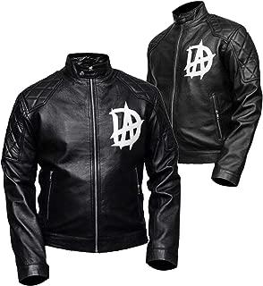 Leather Factory Cafe Racer Dean Ambrose (DA) Black Genuine Sheep Skin Leather Jacket Men's