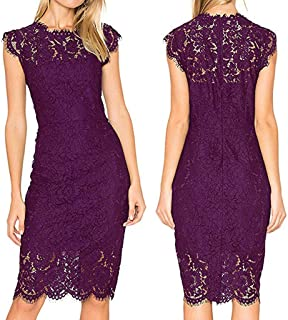 Solid Out Lace Hollow Sexy Plue Size Sleeveless Irregular Dress Fashion -goalBY