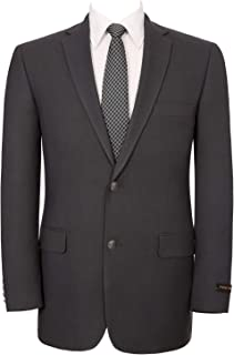 Men's Sport Coat Classic Fit 2 Button Stretch Blazer Suit Jacket Grey