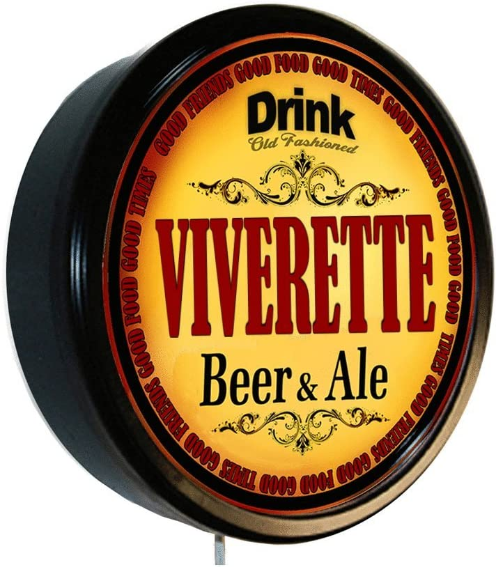 Goldenoldiesclocks VIVERETTE Beer Popular brand and Ale S Wall Large special price Cerveza Lighted