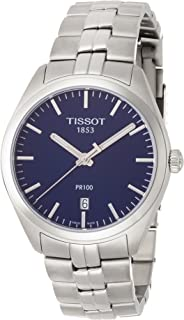 Tissot PR 100 Blue Dial Stainless Steel Quartz Men's Watch T1014101104100