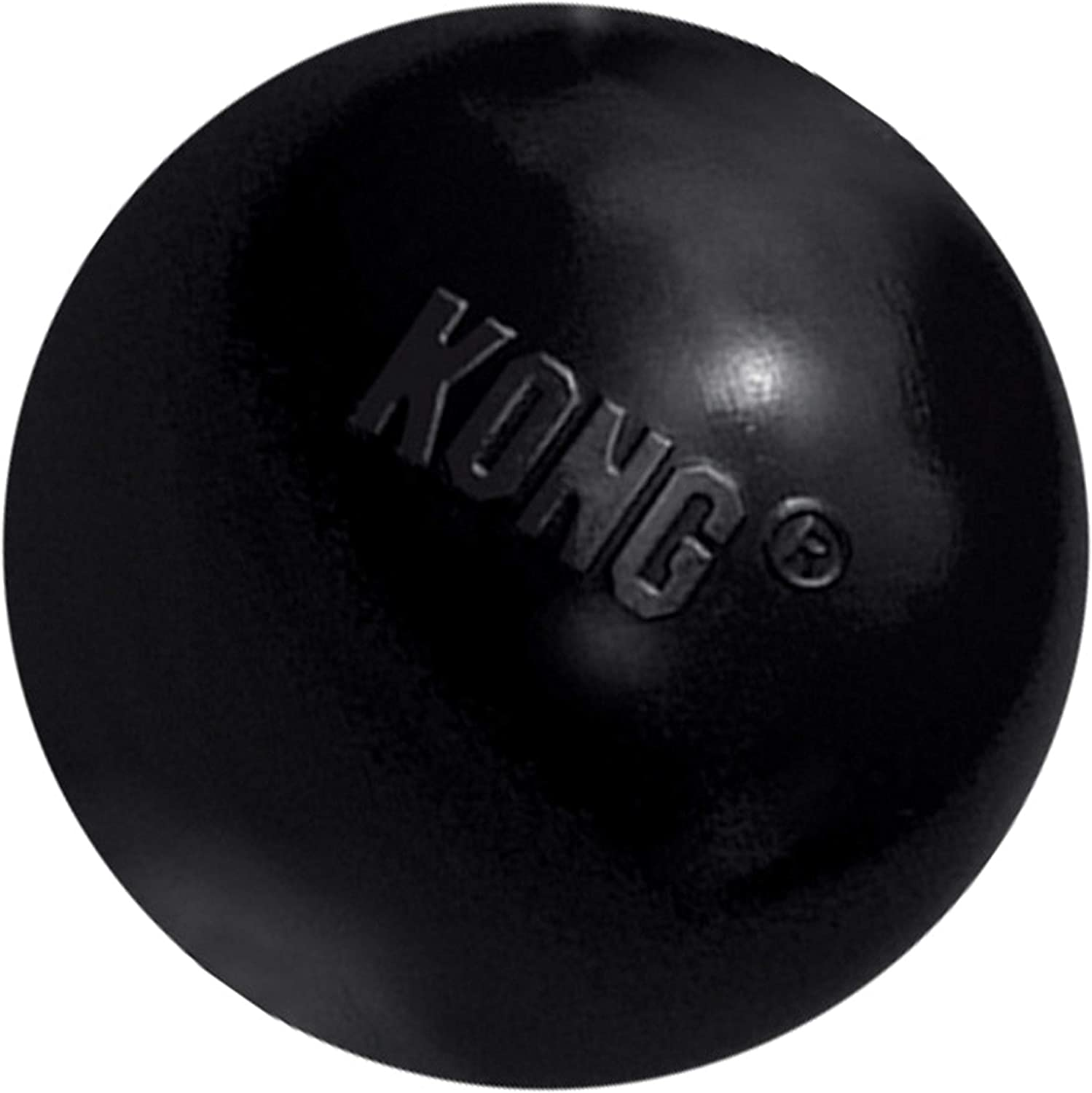 Pet Supplies : Pet Toy Balls : KONG - Extreme Ball - Durable Rubber Dog Toy for Power Chewers, Black - for Medium/Large Dogs :