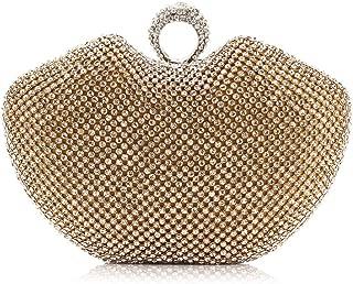 TWTAI Fashion Lady Luxury Rhinestone Crystal Clutches Bags Wild Chain Shoulder Crossbody Bag Banquet Wedding Bridesmaid Dress Evening Bag (Color : Gold)