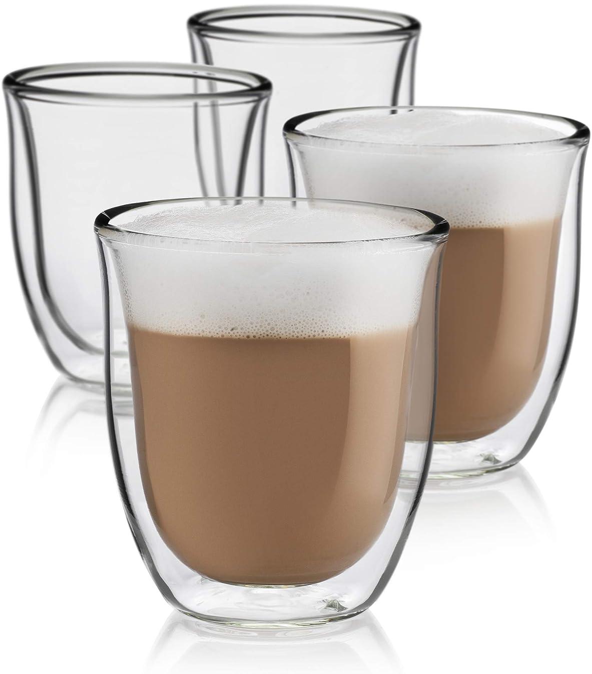 Cappuccino Cups Set of 4 – Insulated Espresso Glasses (6 oz)