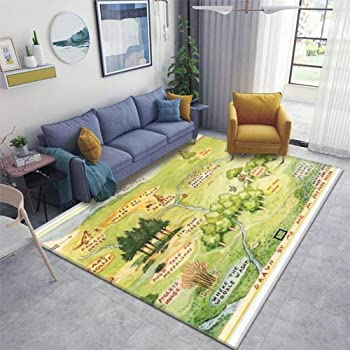 Wetia Green Dinosaur Illustration Round area rug for kid anti-slip outdoor rugs soft with a suede surface gift for girl and boy for living room kids bedroom baby room balcony circle 70x70cm
