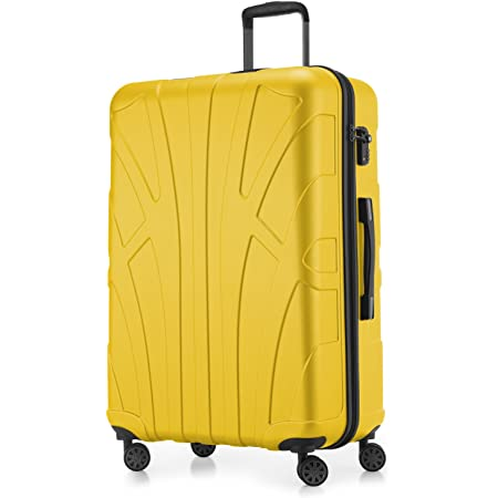 SUITLINE - Valise Plus Grande Bagages Rigide, 76 cm, 110 Liter, Jaune