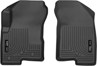 Husky Liners Fits 2007-12 Dodge Caliber, 2007-16 Jeep Compass - Passenge side has 1 floor mat retaining hook, 2007-17 Jeep Patriot Weatherbeater Front Floor Mats