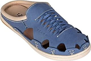tZaro Genuine Leather Navy Blue Slipper - Blue Hector, RON4110NUBLU