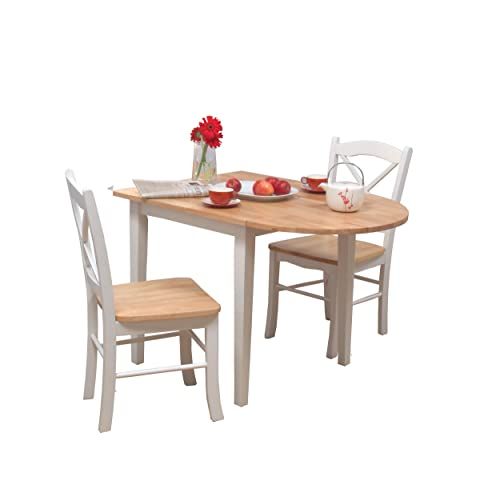 aad00c3768d7 Target Marketing Systems 3 Piece Tiffany Country Cottage Dining Set with 2  Chairs and a Drop