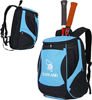 SW SOWLAND Tennis Backpack Racquetball Bag Separate Ventilated Shoe Compartment with 2 Rackets Holder Equipment Bag for Te...