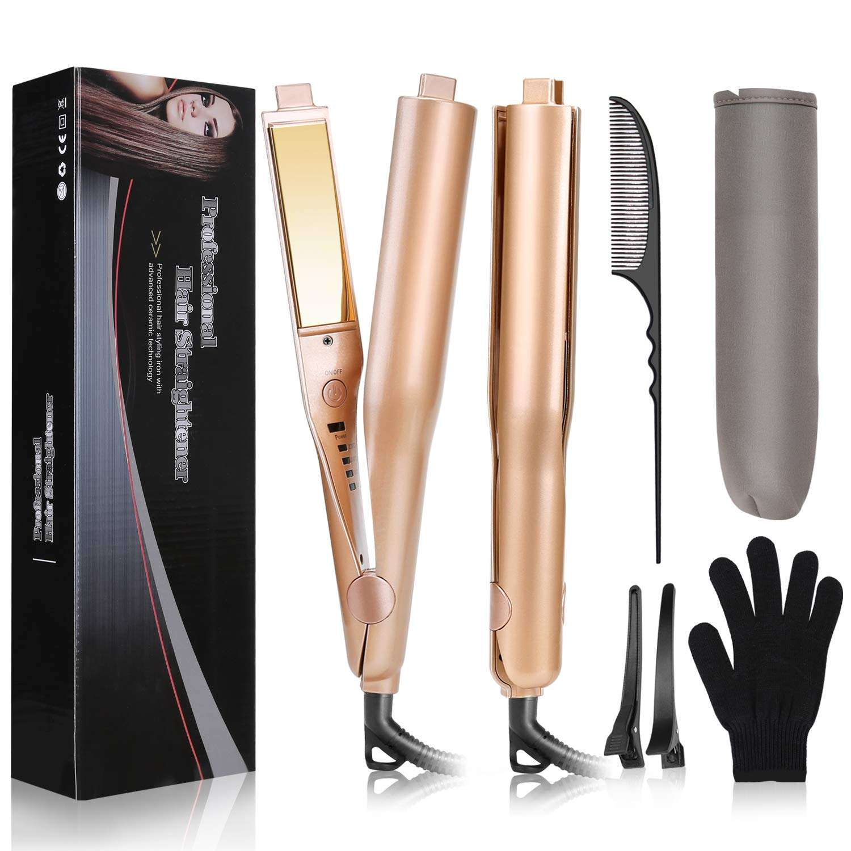 USHOW Straightener Professional Titanium Adjustable