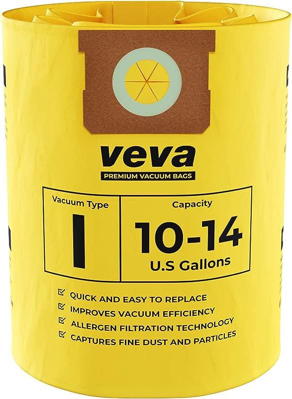 VEVA 10 Pack Premium Vacuum Filter Bags Type I 9067200 Work With Shop Vac 10 14 Gallon Vacuum Part SV 90672