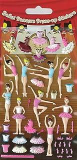 Paper Projects 01.70.19.006 baleriny 3D puszyste naklejki wielokrotnego użytku, 19,5 cm x 9,5 cm