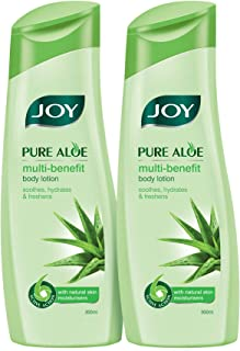 Joy Pure Aloe Multi-Benefit Body Lotion With Natural Skin Moisturisers For All Skin Type (Pack of 2 X 300ml)