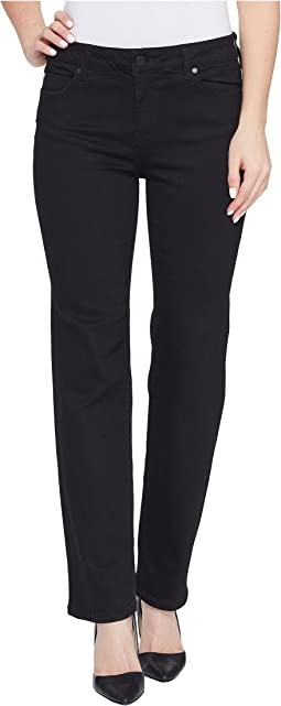 Liverpool - Petite Sadie Straight Perfect Black Jeans in Black Rinse