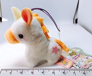 Amuse Plush Mini Strap Puchimaru - Dreamy Unicorn - Orange