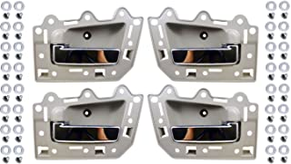 PT Auto Warehouse CH-2815ME-QP - Inner Interior Inside Door Handle, Beige/Tan Housing with Chrome Lever - Set of 4