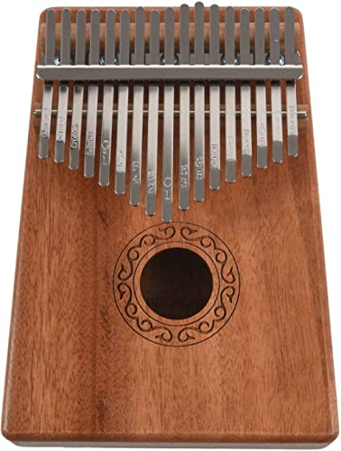 TOOGOO 17 Touches Kalimba Pouce Piano Doigt Piano Jouets Musicaux Avec Regler - Marteau Et Livre De Musique