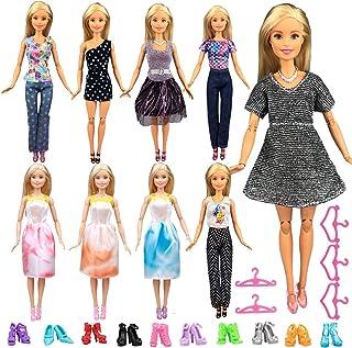 Keysse Doll Clothes for Barbie 24 Items Gift Set, 9 Sets...