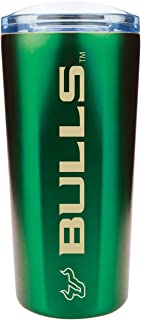 The Fanatic Group University of South Florida Dual Walled 24oz Stainless Steel Travel Tumbler, Design 1 - Green