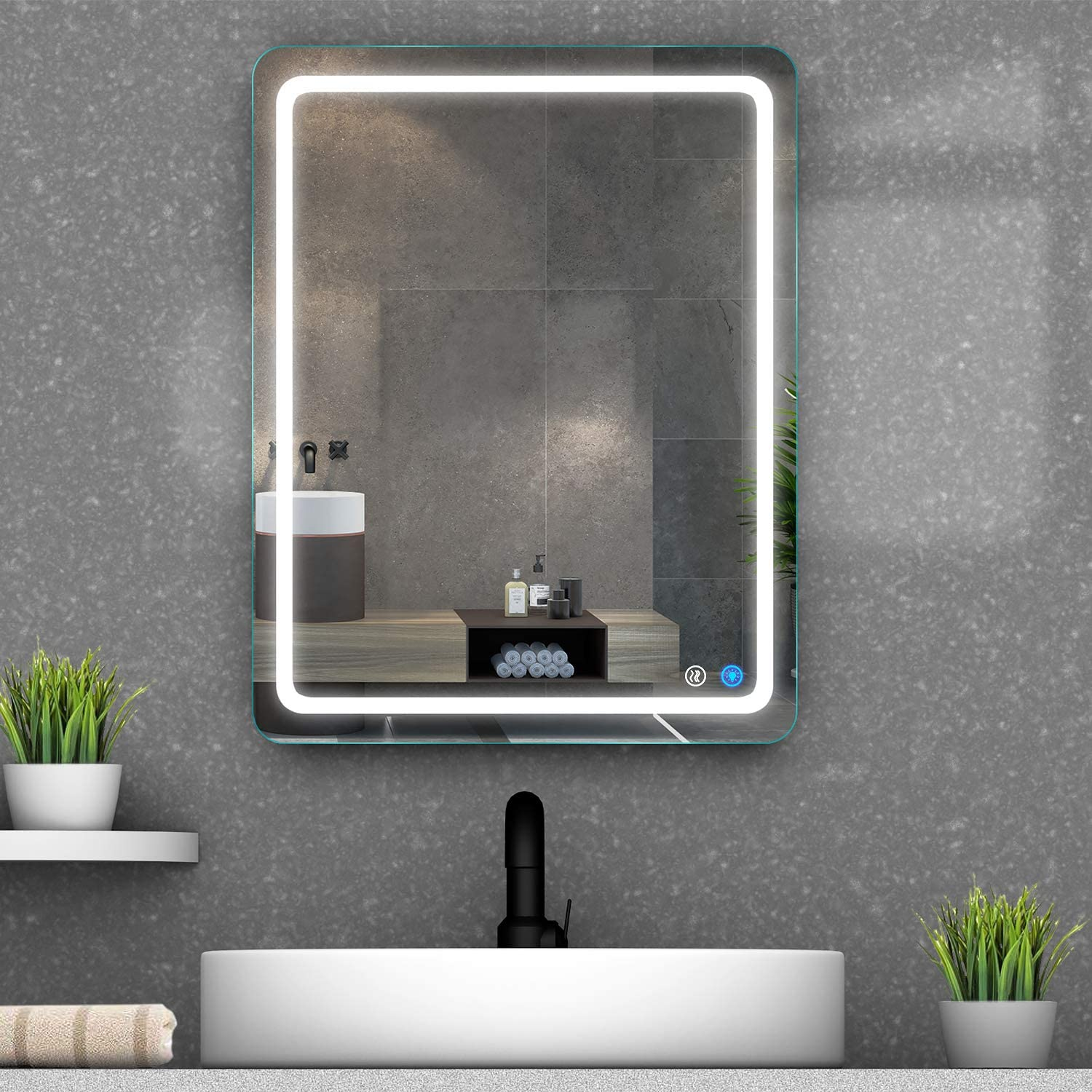 Bathroom Mirror with New item LED Lights Wall M Denver Mall Dimmable Anti-Fog Backlit