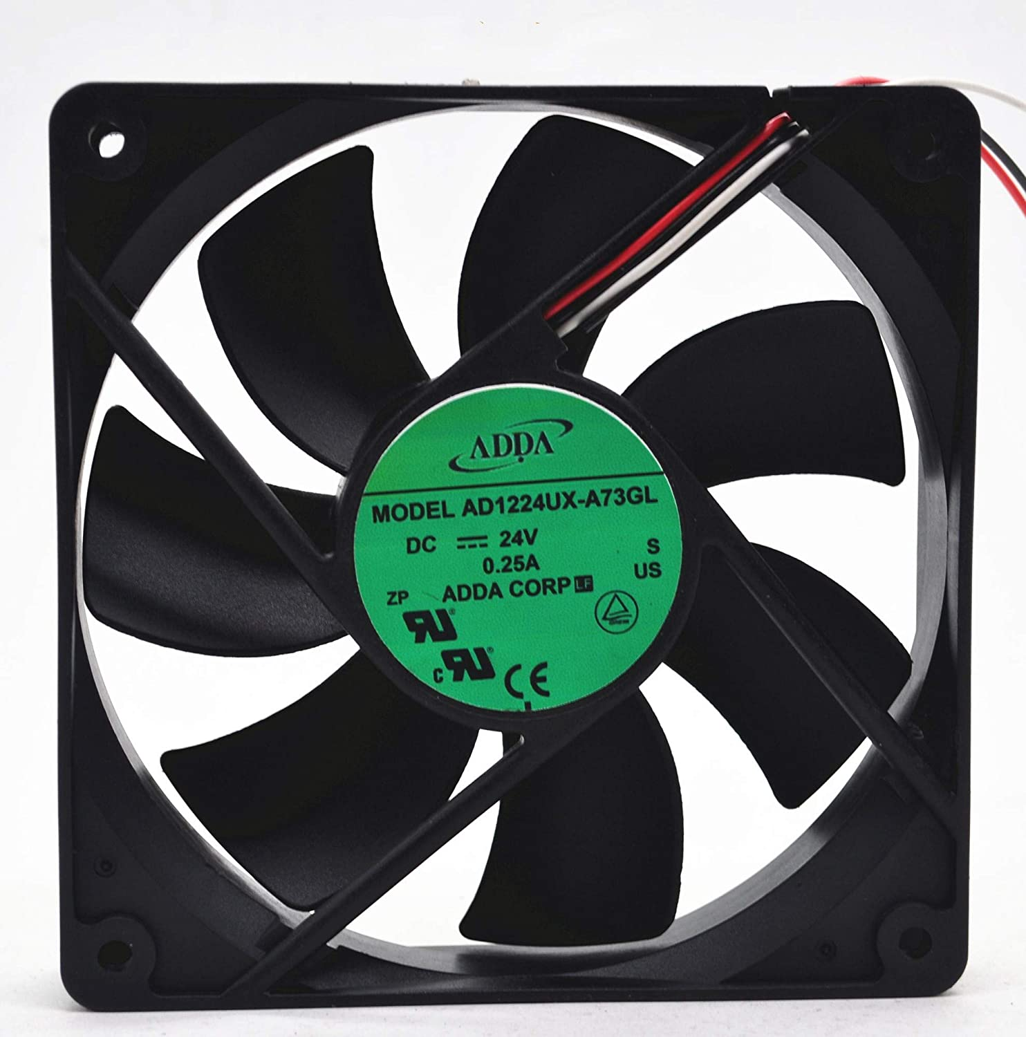 for AD1224UX-A73GL 24V 0.25A Super sale period limited 12025 ADDA 12CM Cooling Fan 3-Wire Max 72% OFF