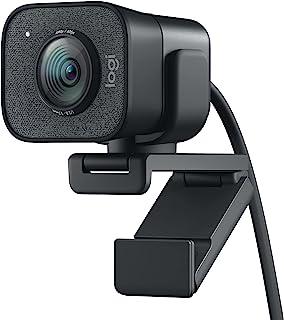 Logitech StreamCam, live stream webcam, Full 1080p HD 60fps verticale video, slimme autofocus en belichting, Dual webcam m...