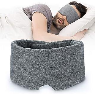 100% Handmade Cotton Sleep Mask Blackout - Comfortable & Breathable Eye Mask for Sleeping Adjustable Blinder Blindfold Air...