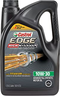 Castrol 03129C EDGE High Mileage 10W-30 Advanced Full Synthetic Motor Oil, 5 quart