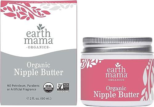 Organic Nipple Butter Breastfeeding Cream by Earth Mama   Lanolin-free, Safe for Nursing & Dry Skin, Non-GMO Project ...