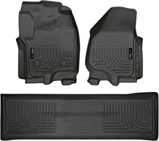 Husky Liners Fits 2012-16 Ford F-250/F-350 Crew Cab Weatherbeater Front & 2nd Seat Floor Mats (Footwell Coverage)