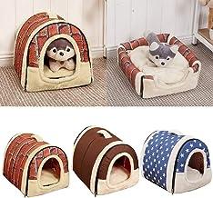 iodvfs Universal Pet House Ladrillo Pared/Estrellas Modelo Plegable Cat Dog Nido para Todas Las Estaciones