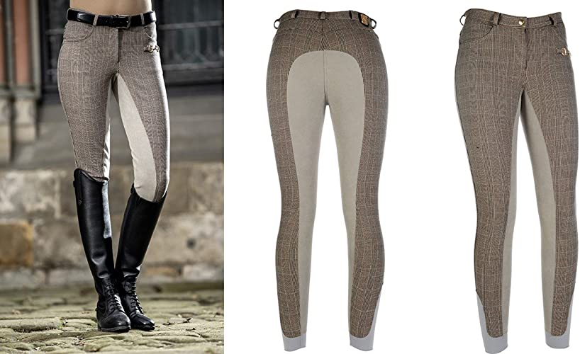 HKM 9195 Pantalon d'équitation Siena Check alos Garniture