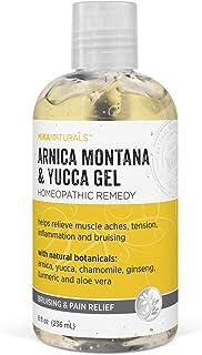 MIKA NATURALS Arnica Montana & Yucca Gel, Homeopathic Bruising & Pain Relief (8 oz.)