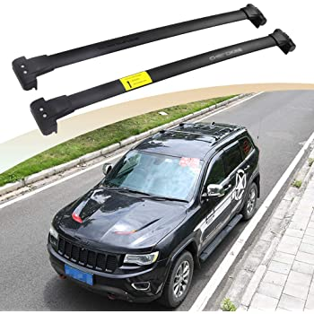 Amazon Com Snailauto Black Stainless Steel Crossbars Fit For 2011 2019 2020 Jeep Grand Cherokee Cross Bars Roof Rack Luggage Holder Automotive