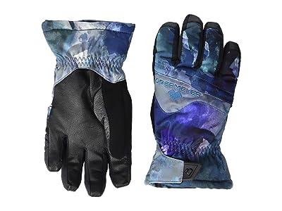 Obermeyer Kids Lava Gloves (Little Kids/Big Kids) (Watercolor Floral) Extreme Cold Weather Gloves