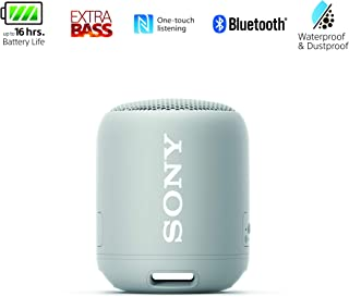 Sony SRSXB12/H Portable Bluetooth Water Resistant Speaker - Grey (Pack of 1)
