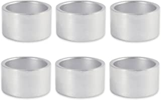DII Shabby Chic Napkin Rings for Wedding Receptions, Dinners Parties, Family Gatherings, or Everyday Use - Shimmer Sliver, Set of 6