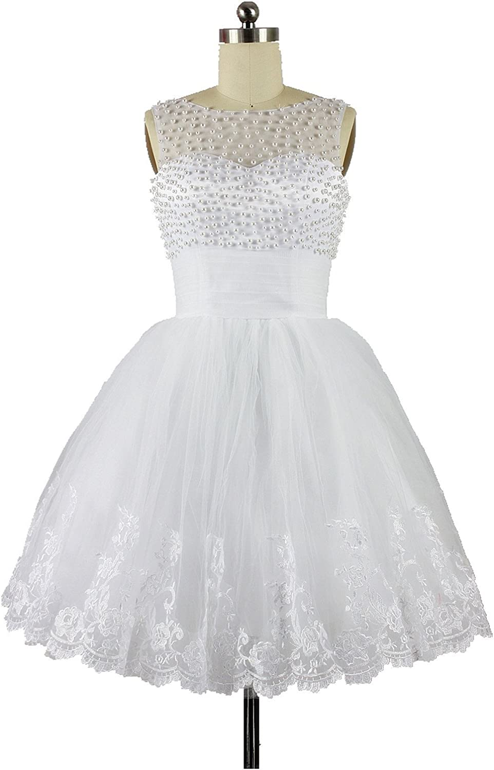 CharmingBridal Ball Gown Homecoming White Wedding Party Dress Short Prom Dress