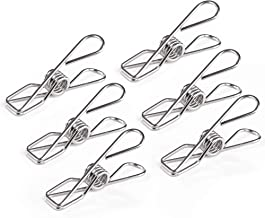 Pealeep 31 Pack Clothes pins,2.56 Inch Multi-Purpose Stainless Steel Durable Clothes Pegs, Metal Wire Utility Clips for Ho...