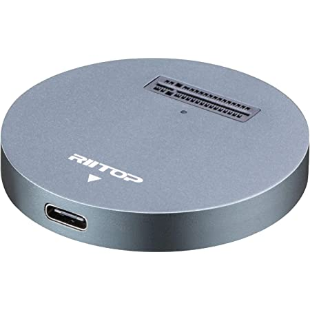 Ketaky USB 3.1 Gen2 10Gbps Dual-Bay NVME Docking Station,Lay-Flat External Hard Drive Docking Station for M2 SSD Key M Tool-Free Installation Support Offline Clone Function and Auto Sleep Function