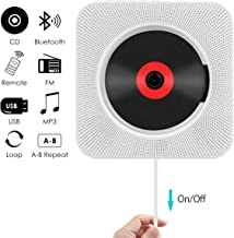 CD Player, Wrcibo Wall Mountable Bluetooth CD Player Speaker Upgraded Version with Remote..