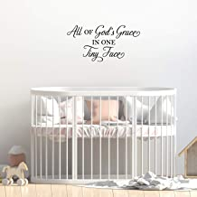 Vinyl Wall Art Decal - All of God's Grace in One Tiny Face - 15