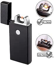 Encendedor USB, TECCPO Encendedor Electrico sin Llama, Batería Interna de 280 mAh, Usos más de 9000 Veces, Carga Rápida, Resistente al Viento sin Llama (Cable USB y Caja de Regalo Incluidos) -TDEL01P
