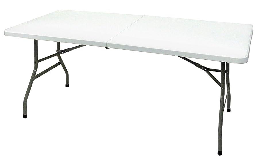 パイントに対して人差し指天板が強化プラスチックの折りたたみ作業テーブル 長さ180cm×奥行74cm