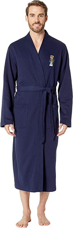 Long Sleeve Fleece Kimono Robe
