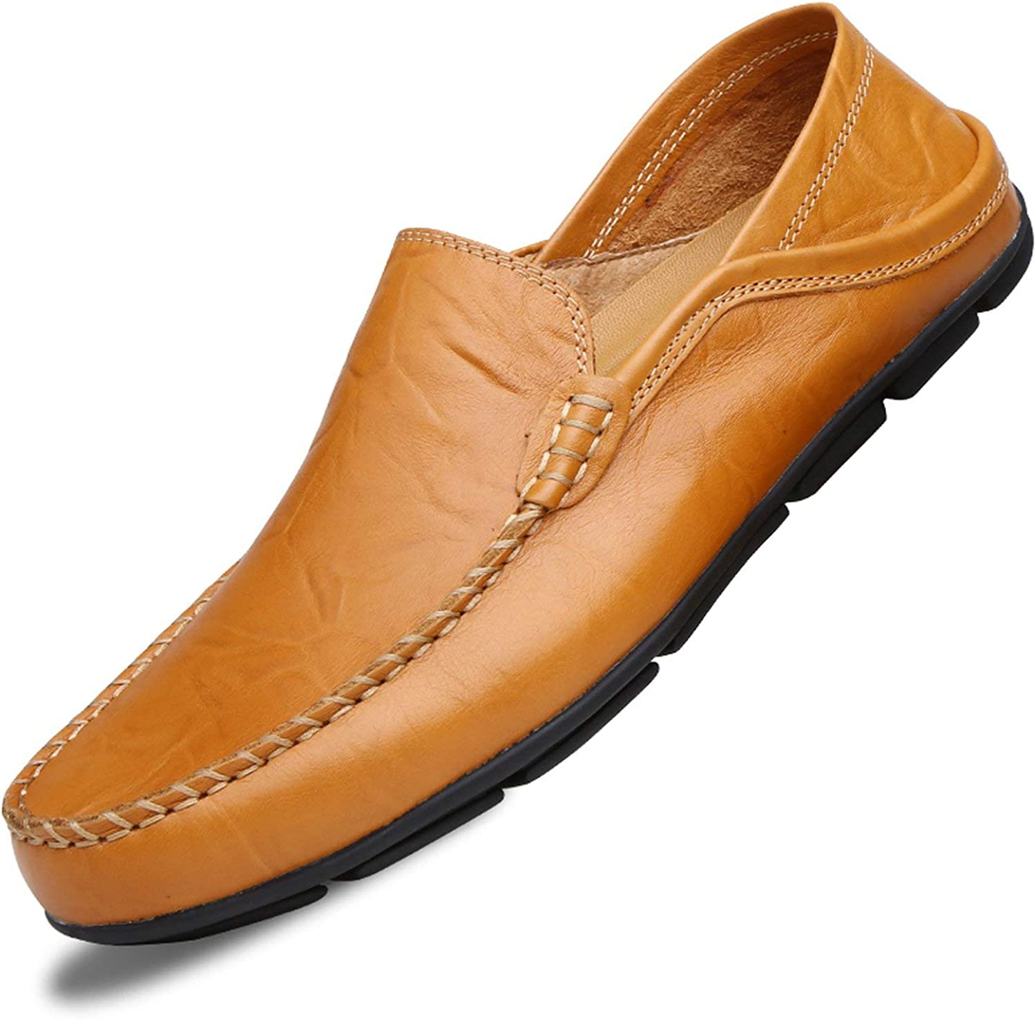 ALWAYS ME Men shoes Genuine Leather Comfortable shoes Sport Footwear shoes Flats Slip On Lazy shoes