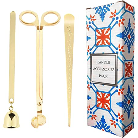 BYFRI Candle Accessory Set Candle Wick Trimmer Candle Snuffer Storage Tray Candle Wick Dipper