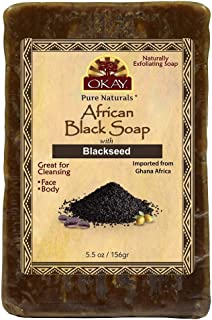 Okay | African Black Soap with Blackseed | For All Skin Types | Cleanses and Exfoliates | Nourishes and Hea...